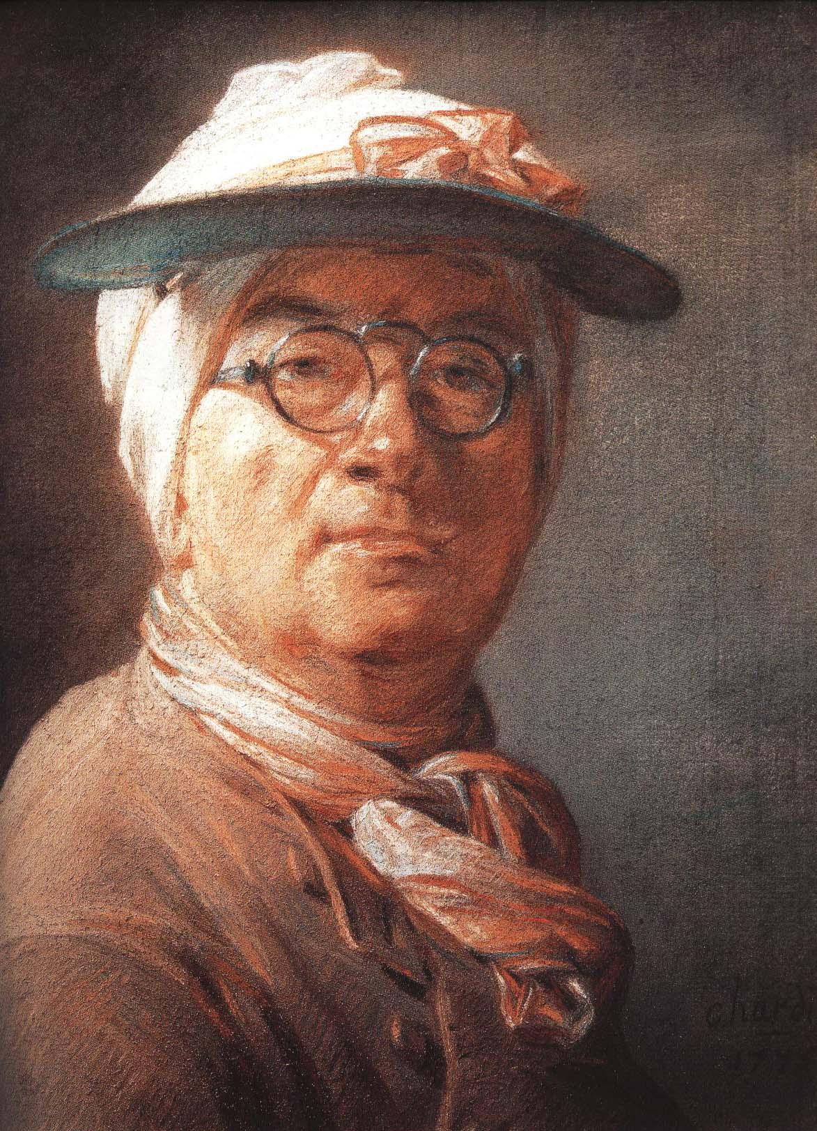 Self Portrait   Jean-Simeon Chardin 1775   Oil Painting