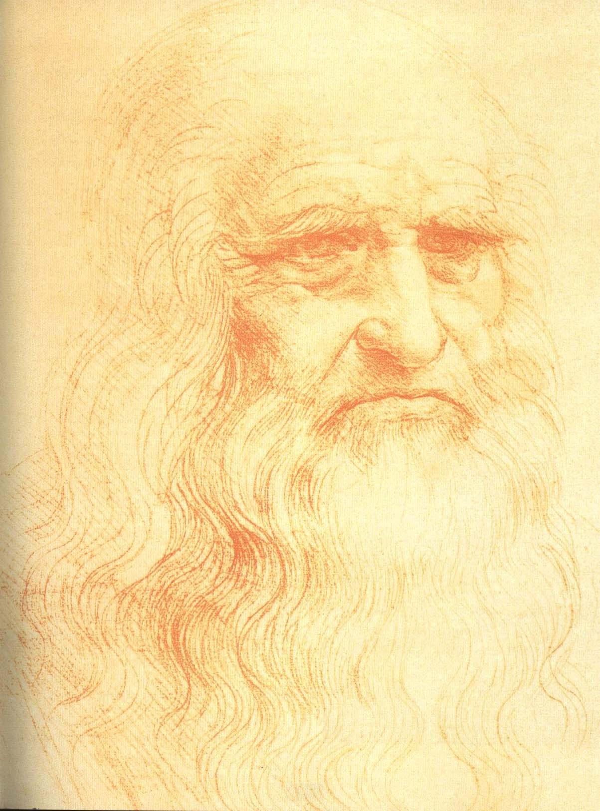 Self Portrait | Leonardo Da Vinci 1512 | Oil Painting