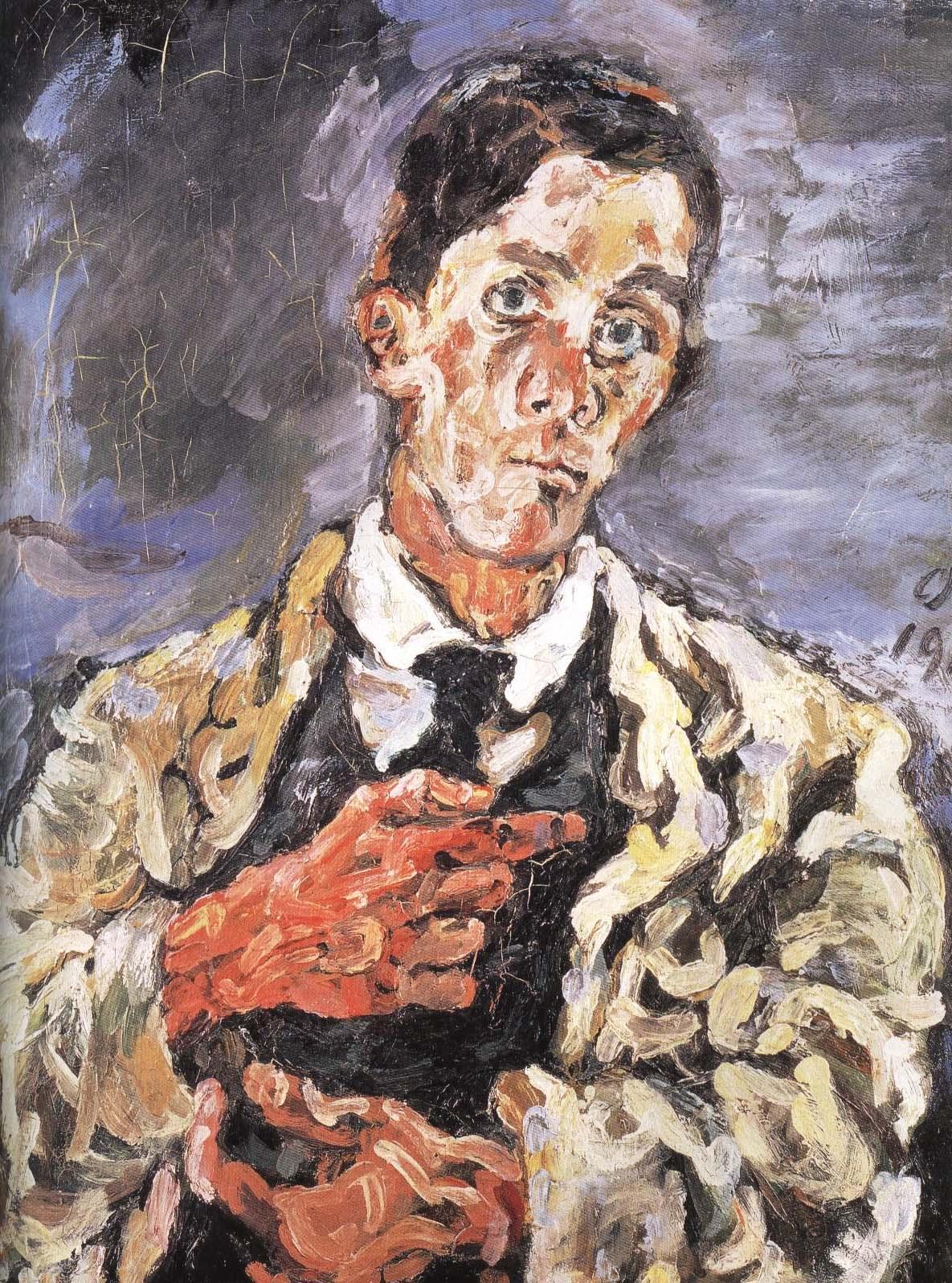 Self Portrait | Oskar Kokoschka 1917 | Oil Painting