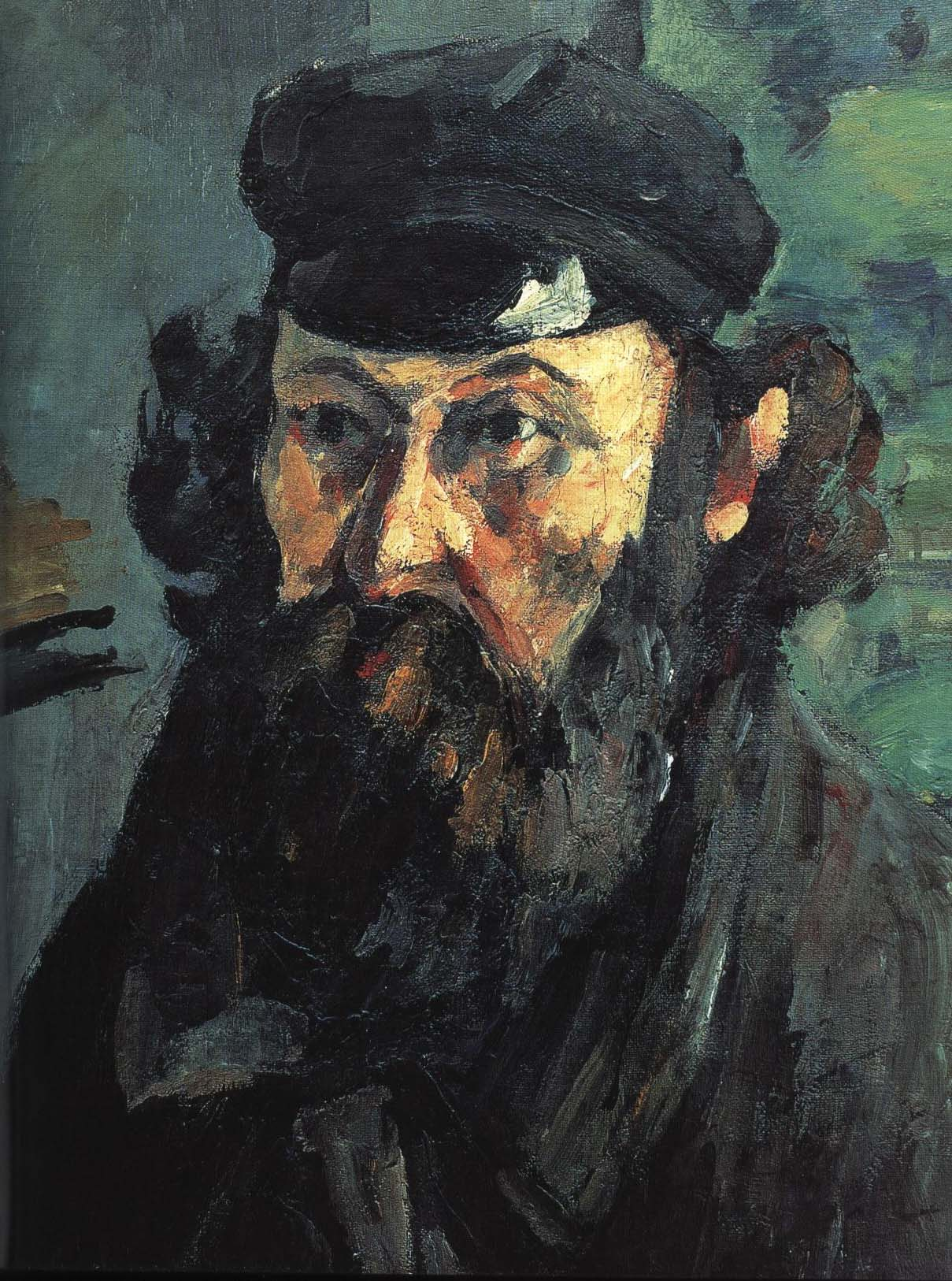 Self Portrait with Cap | Paul Cezanne 1873 | Oil Painting