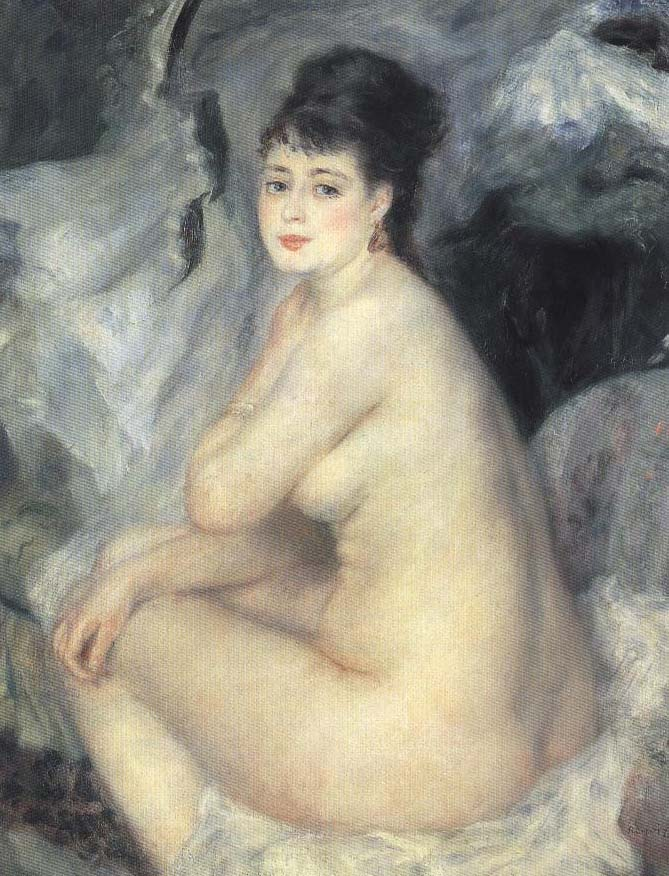 Female Nude | Pierre-Auguste Renoir 1876 | Oil Painting