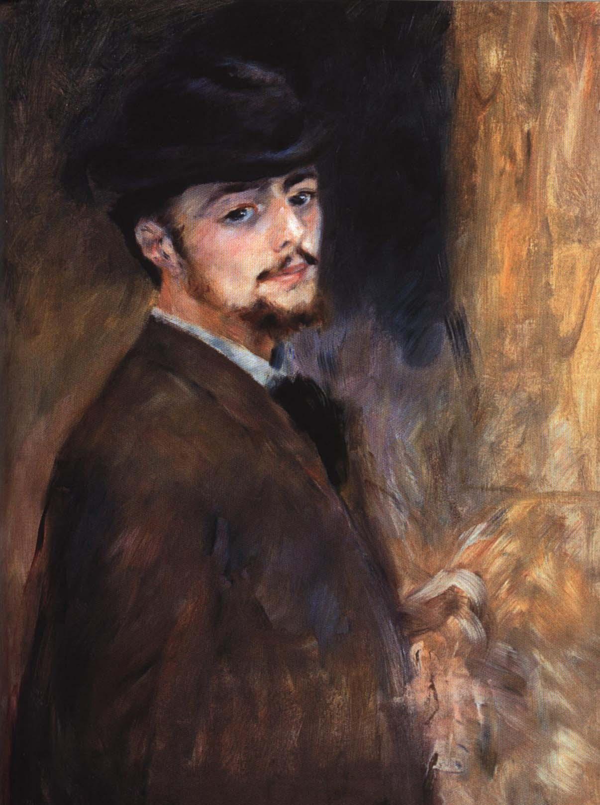Self Portrait | Pierre-Auguste Renoir 1876 | Oil Painting