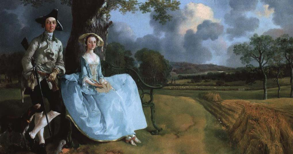 In Mr. and Mrs. Andrews | Thomas Gainsborough 1748-1749 | Oil Painting