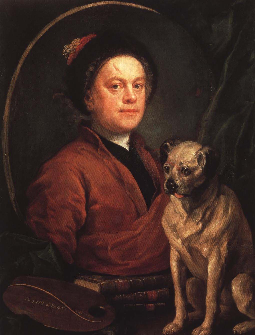 The Painter and His Pug | William Hogarth 1745 | Oil Painting