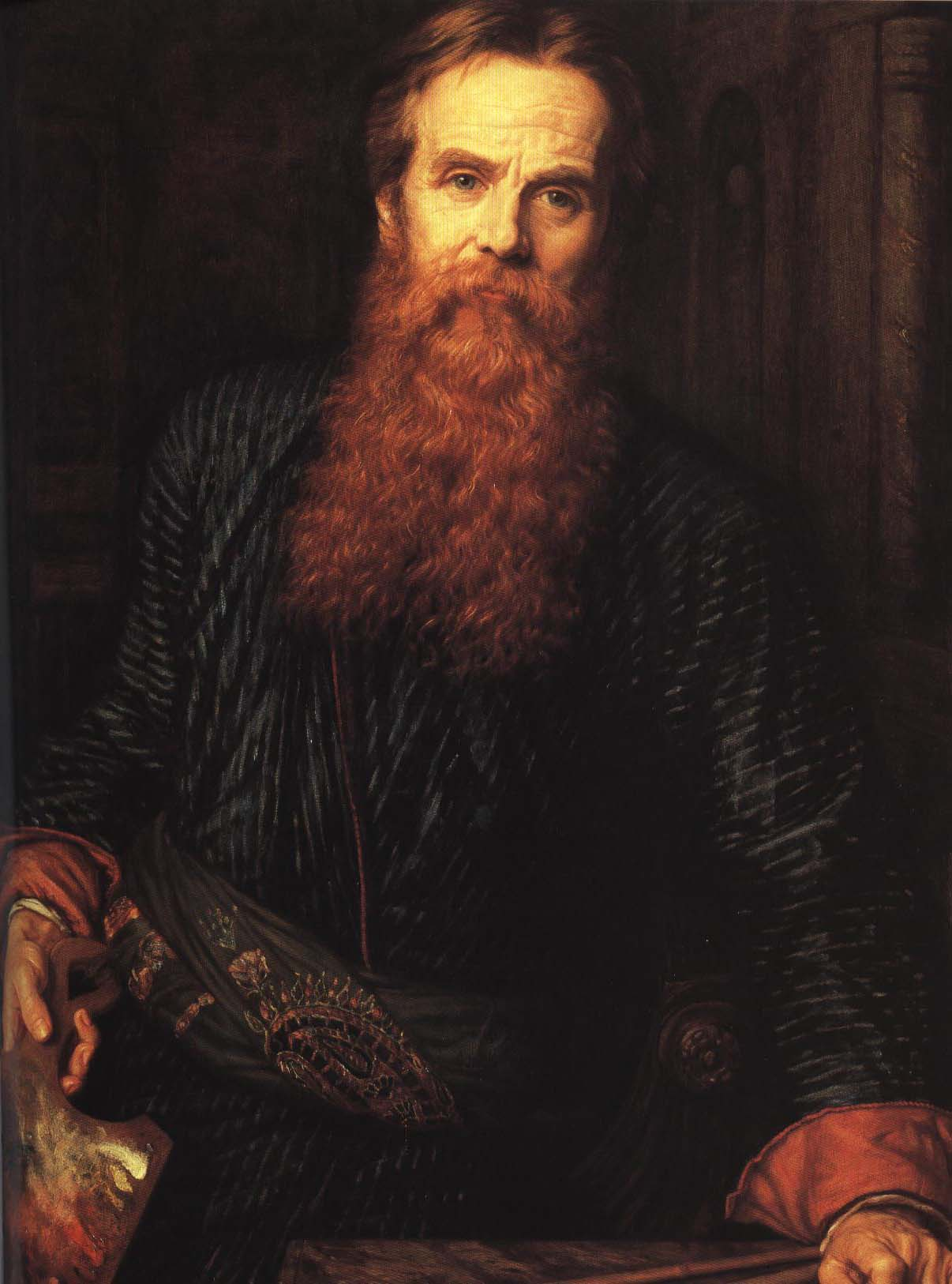 Self Portrait | William Holman Hunt 1875 | Oil Painting