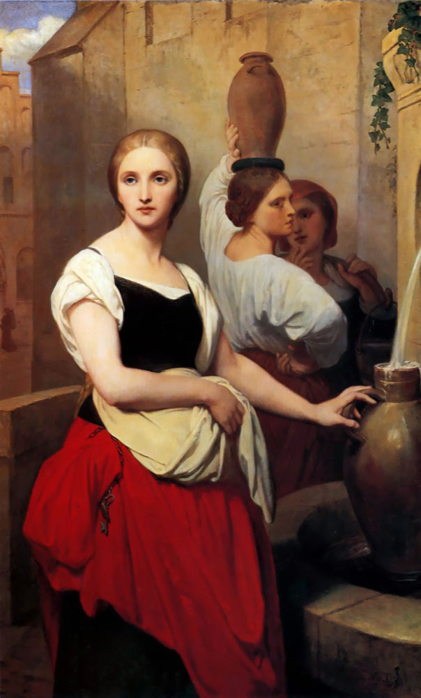 Margaret at the Fountain 1852 | Ary Schefer | Oil Painting