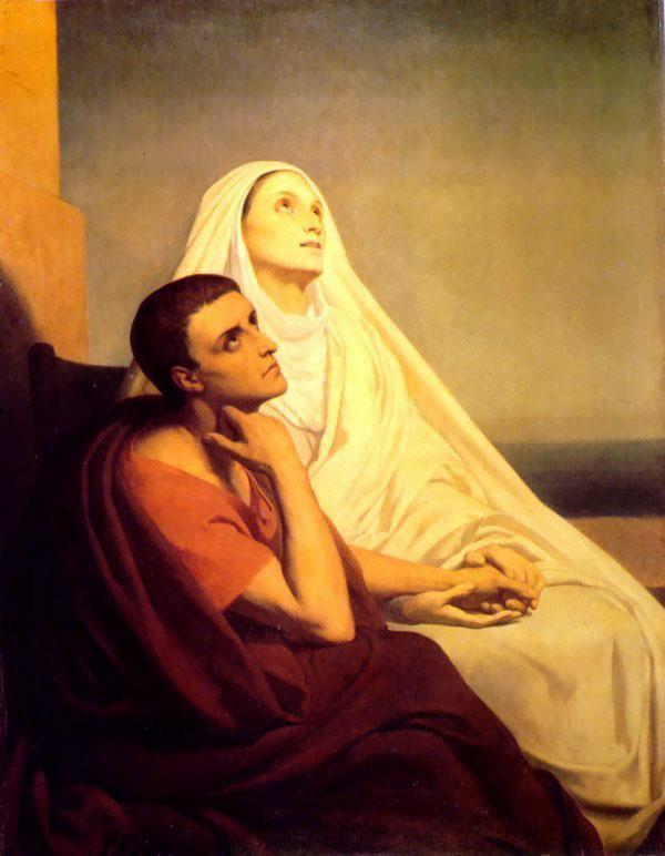 Saint Monique and Saint Augustin | Ary Schefer | Oil Painting