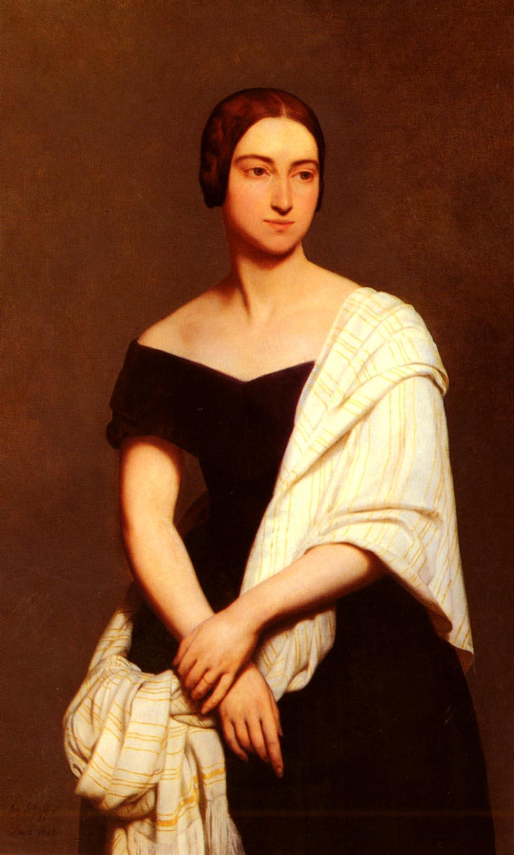 Portrait De Mme Frederick Kent | Ary Schefer | Oil Painting