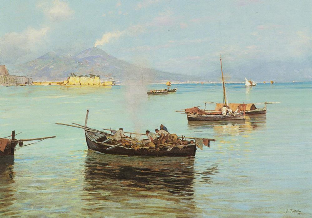 Porto Di Napoli A Pair | Attilio Pratella | Oil Painting