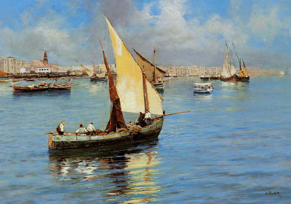 Porto Di Napoli A Pair2 | Attilio Pratella | Oil Painting