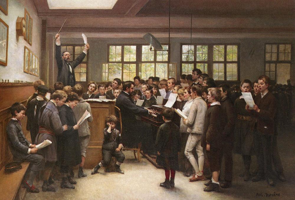 The Choir Lesson | Auguste Joseph Trupheme | Oil Painting
