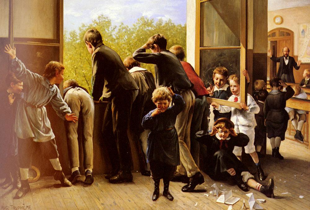 The Class Pranksters | Auguste Joseph Trupheme | Oil Painting
