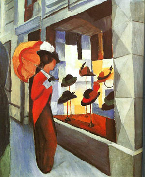 Before the Hat Shop | Auguste Macke | Oil Painting