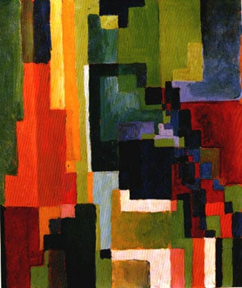 Coloured Forms II (1913) | Auguste Macke | Oil Painting