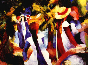 Girls Under Trees (1914) | Auguste Macke | Oil Painting