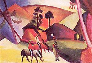 Indians on Horseback | Auguste Macke | Oil Painting