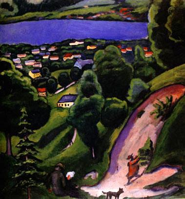 Tegernsee Landscape (1910) | Auguste Macke | Oil Painting