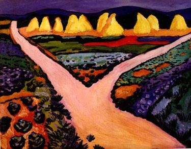 Vegetable Fields (1911) | Auguste Macke | Oil Painting