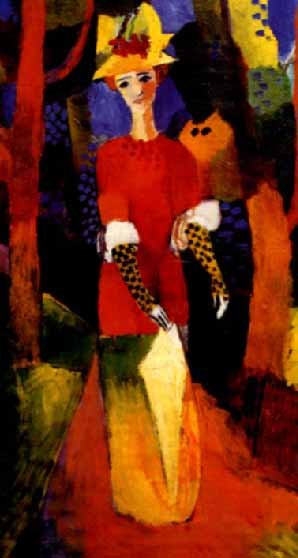 Woman in a Park 1914   Auguste Macke   Oil Painting