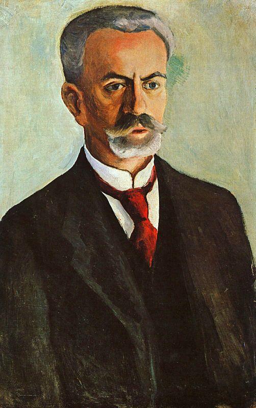 Portrait of Bernhard Koehler (Bildnis Bernhard Koehler) 1910 | Auguste Macke | Oil Painting