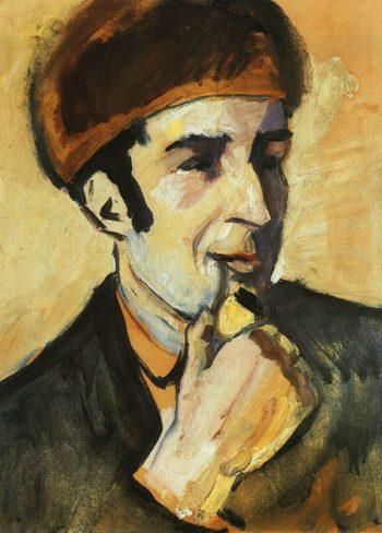 Portrait of Franz Marc (Bildnis Franz Marc) 1910 | Auguste Macke | Oil Painting