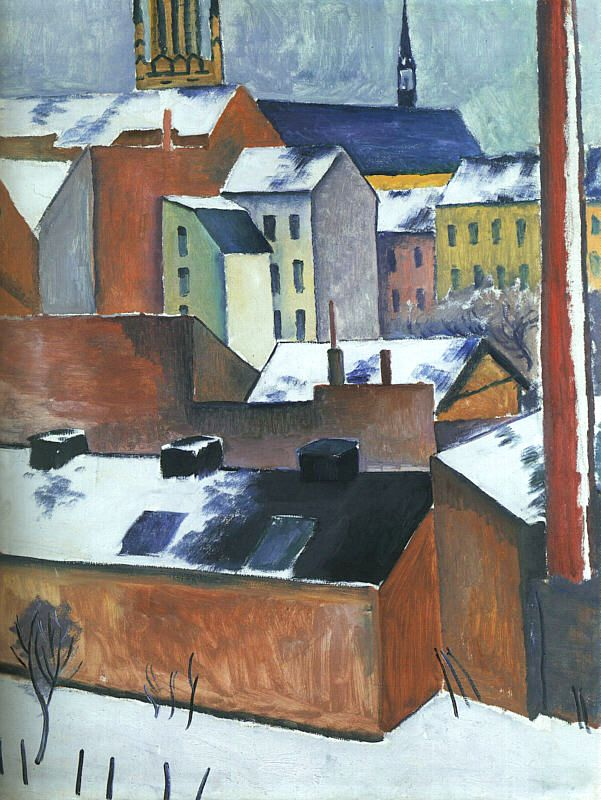 St Marys in the Snow (Mariekirsche im Schnee) 1911 | Auguste Macke | Oil Painting