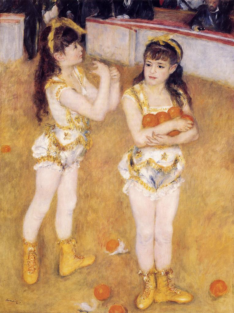 Acrobats at the Cirque Fernando (aka Francisca and Angelina Wartenberg) 1879 | Pierre Auguste Renoir | Oil Painting