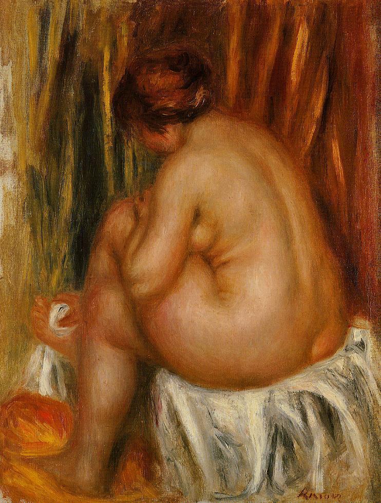 After Bathing (nude study) 1910 | Pierre Auguste Renoir | Oil Painting