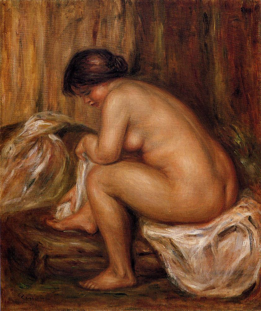 After Bathing 1900 | Pierre Auguste Renoir | Oil Painting