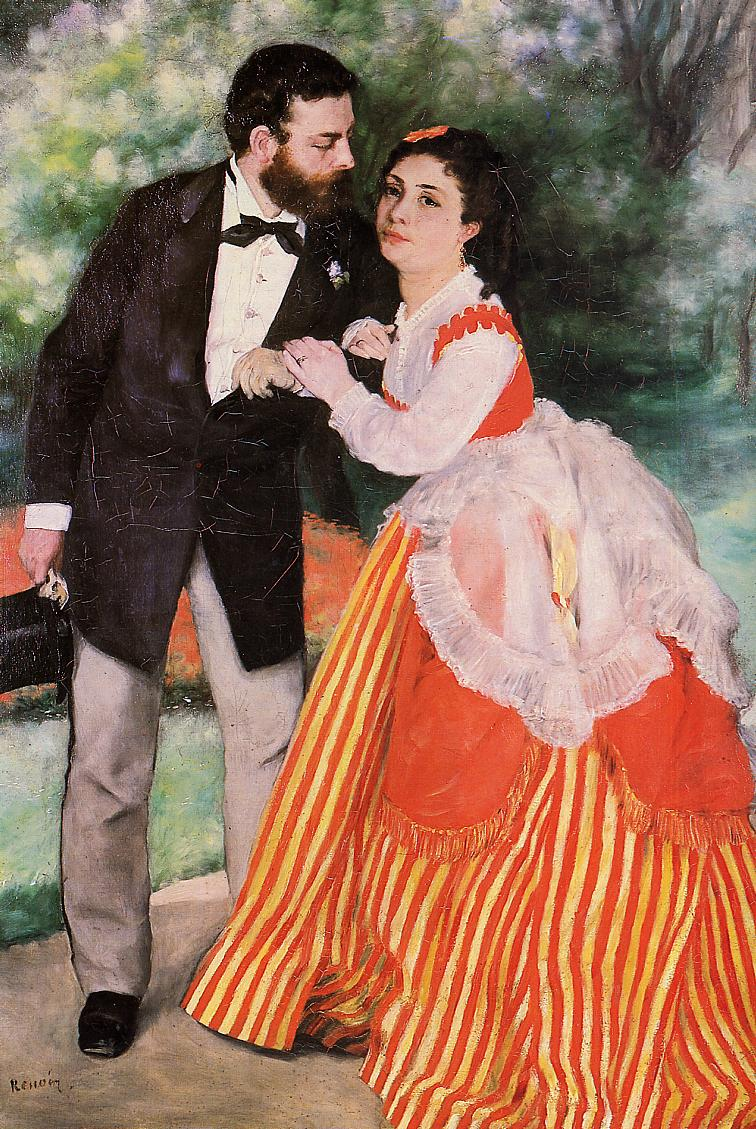 Alfred Sisley with His Wife 1868 | Pierre Auguste Renoir | Oil Painting