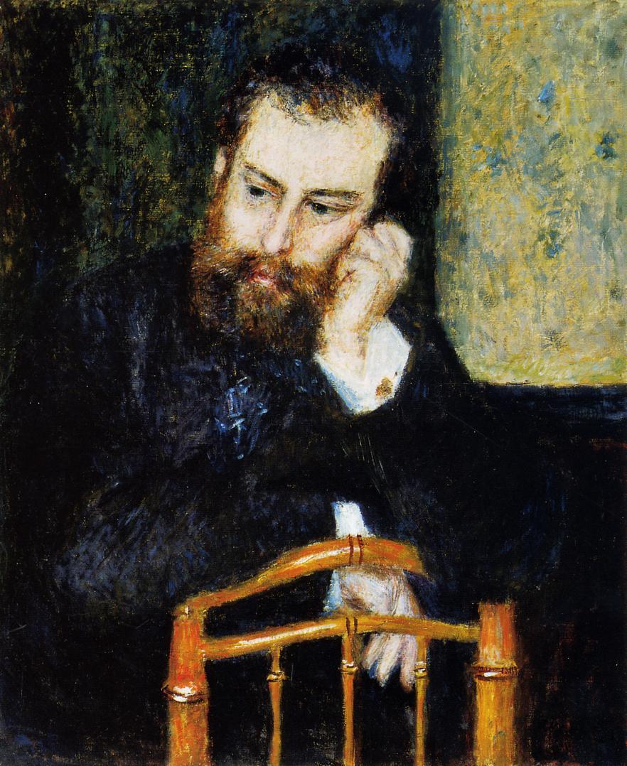 Alfred Sisley 1876 | Pierre Auguste Renoir | Oil Painting