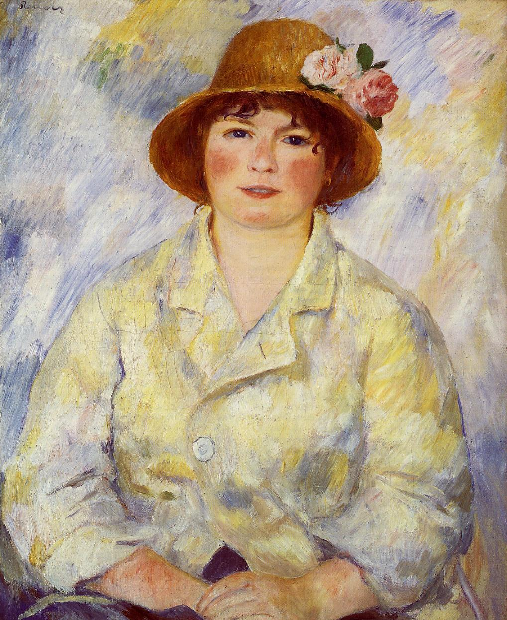 Aline Charigot (future Madame Renoir) 1885 | Pierre Auguste Renoir | Oil Painting