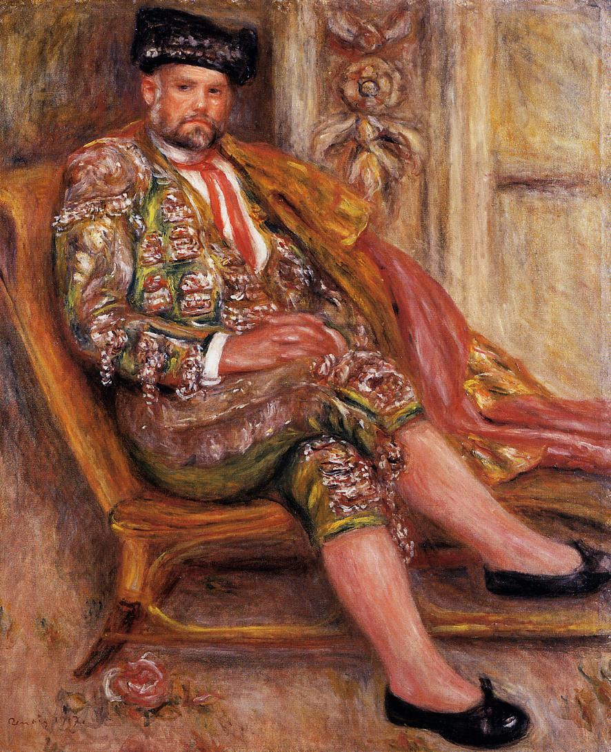 Ambroise Vollard Dressed as a Toreador 1917 | Pierre Auguste Renoir | Oil Painting