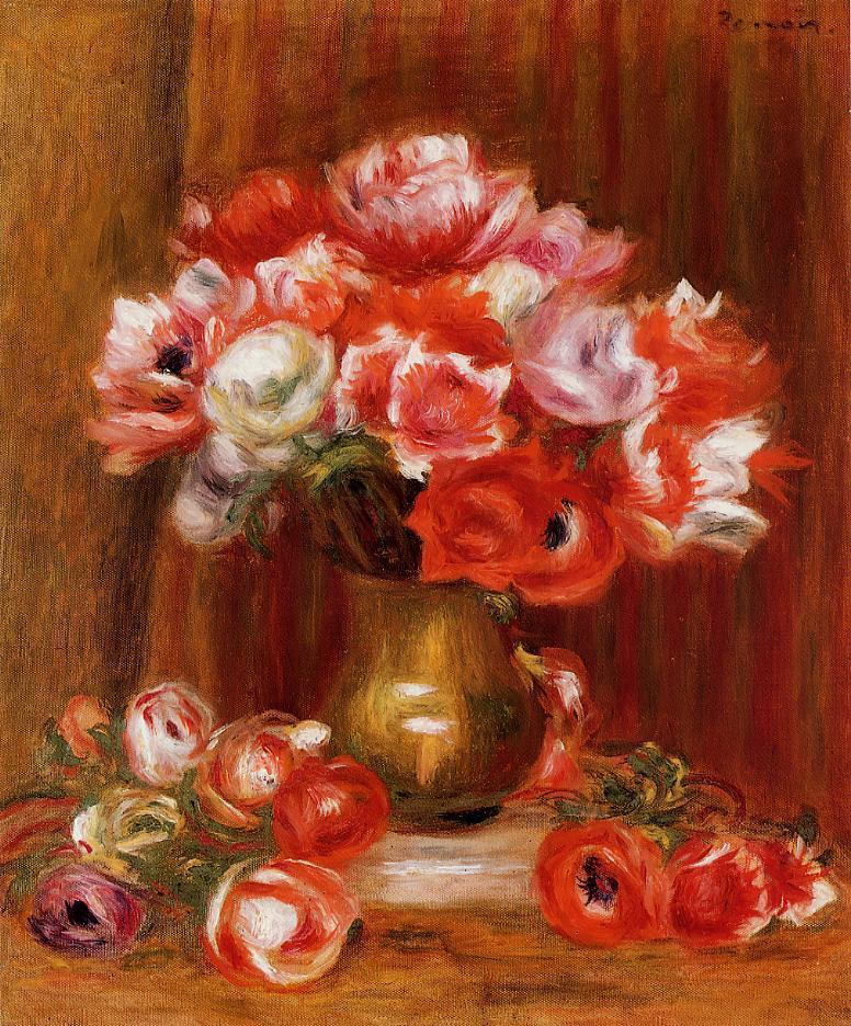 Anemones 1909 | Pierre Auguste Renoir | Oil Painting