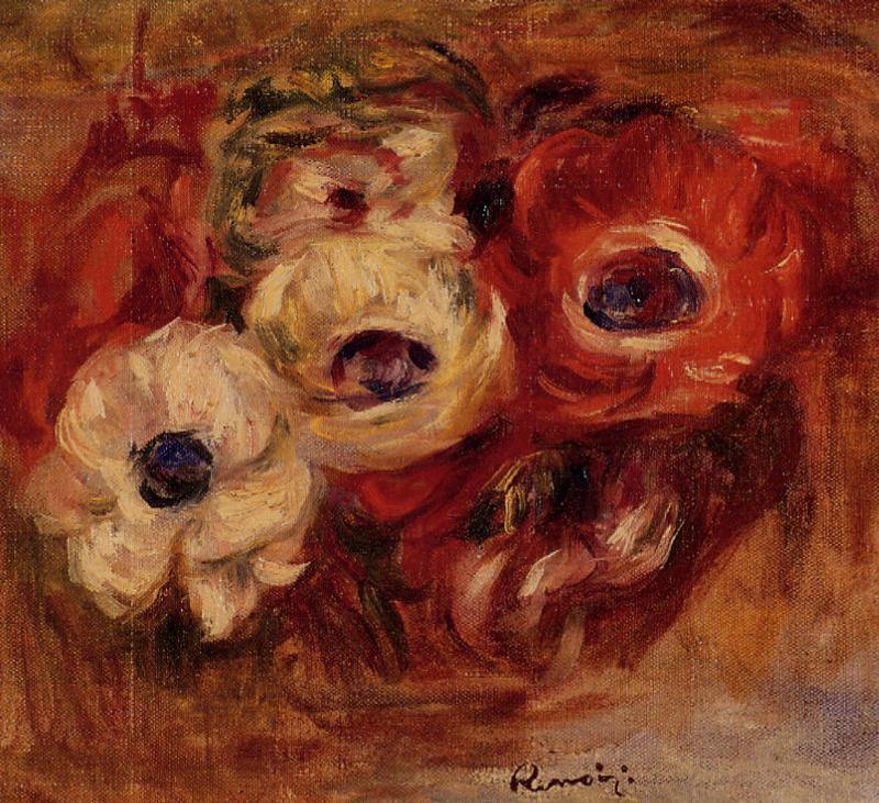 Anemones 1916 | Pierre Auguste Renoir | Oil Painting