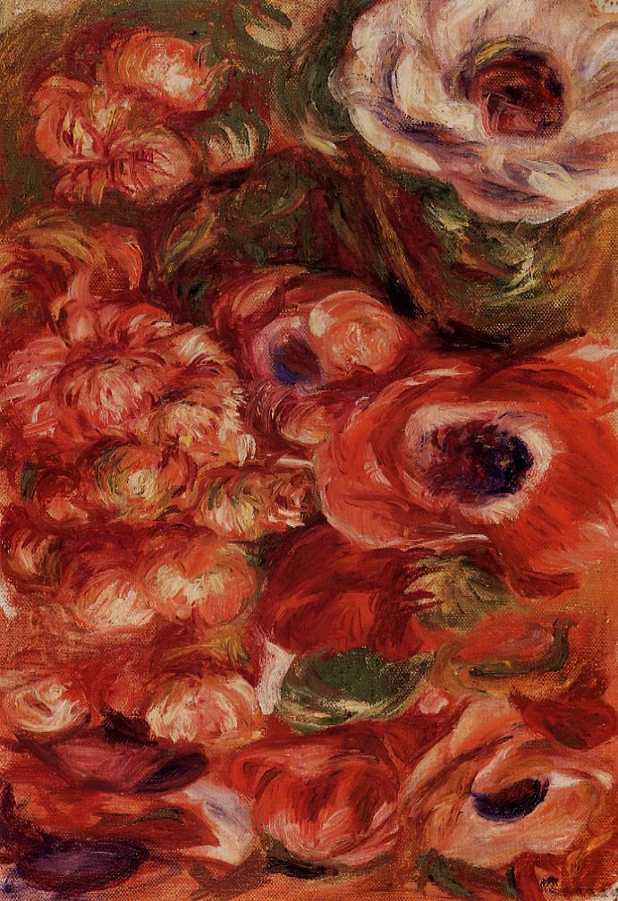 Anemonies | Pierre Auguste Renoir | Oil Painting