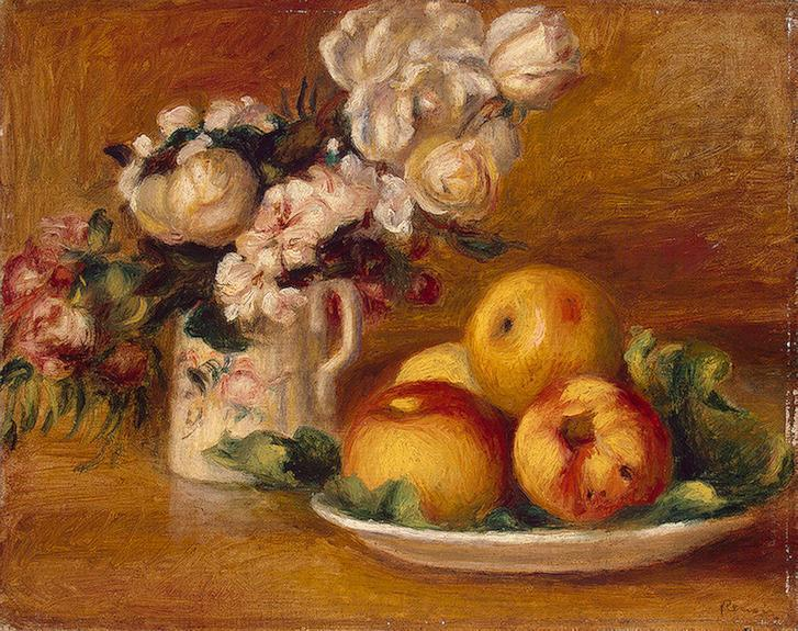 Apples and Flowers 1895-1896 | Pierre Auguste Renoir | Oil Painting