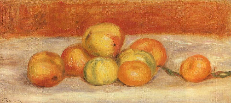 Apples and Manderines 1901 | Pierre Auguste Renoir | Oil Painting