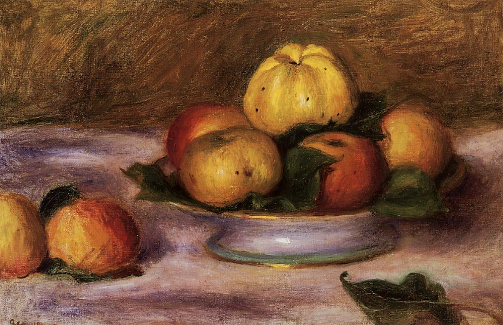 Apples on a Plate 1890 | Pierre Auguste Renoir | Oil Painting