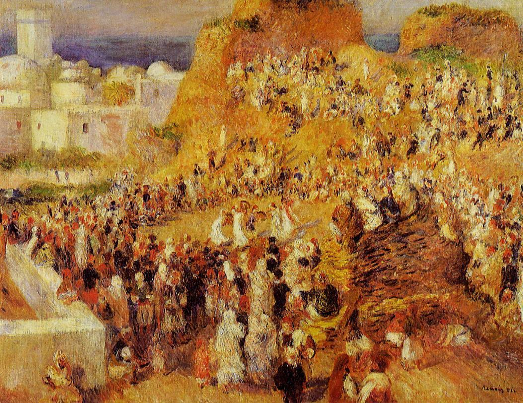 Arab Festival in Algiers (aka The Casbah) 1881 | Pierre Auguste Renoir | Oil Painting