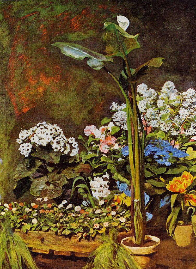 Arum and Conservatory Plants 1864 | Pierre Auguste Renoir | Oil Painting