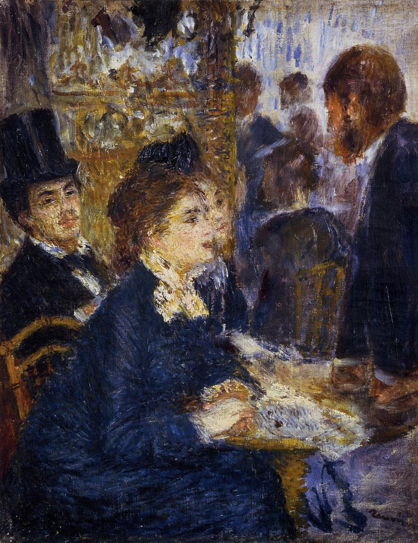 At the Cafe1 1877 | Pierre Auguste Renoir | Oil Painting