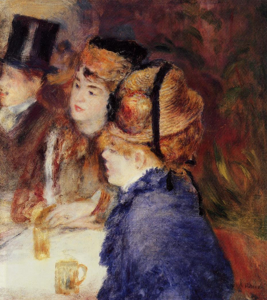 At the Cafe2 1877 | Pierre Auguste Renoir | Oil Painting