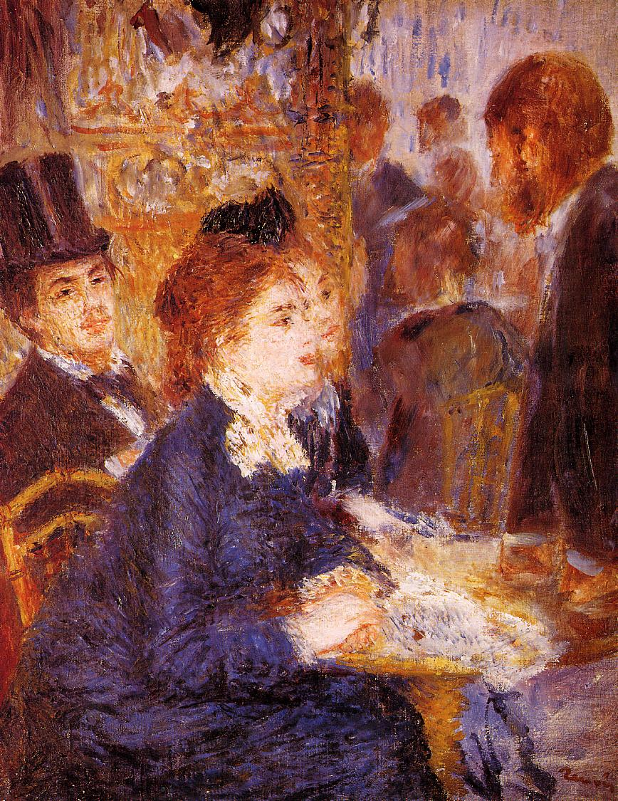 At the Cafe 1876-1877 | Pierre Auguste Renoir | Oil Painting