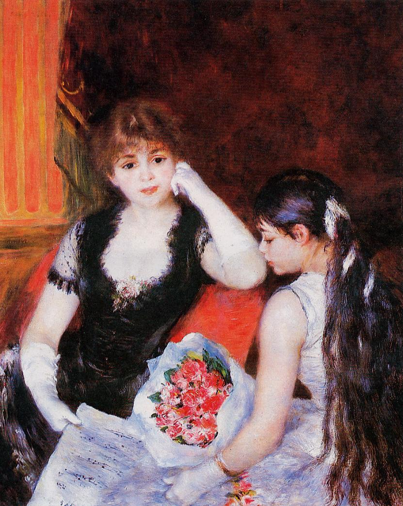 At the Concert (aka Box at the Opera) 1880 | Pierre Auguste Renoir | Oil Painting