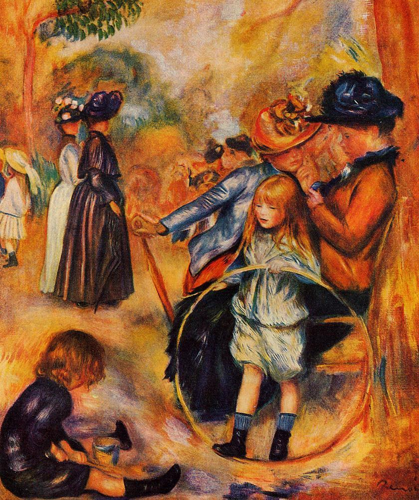 At the Luxembourg Gardens 1883 | Pierre Auguste Renoir | Oil Painting