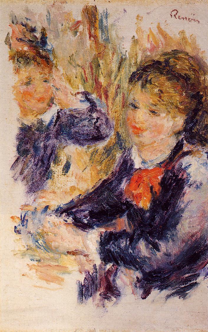 At the Milliner's (study) 1878 | Pierre Auguste Renoir | Oil Painting