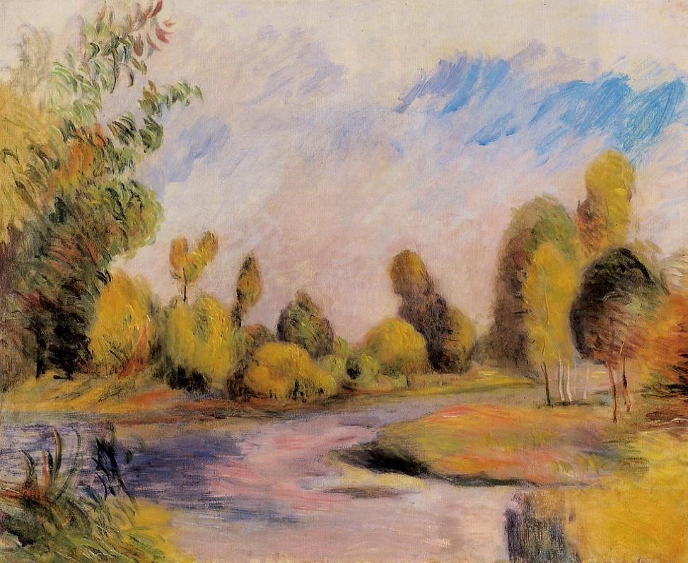 Banks of a River | Pierre Auguste Renoir | Oil Painting