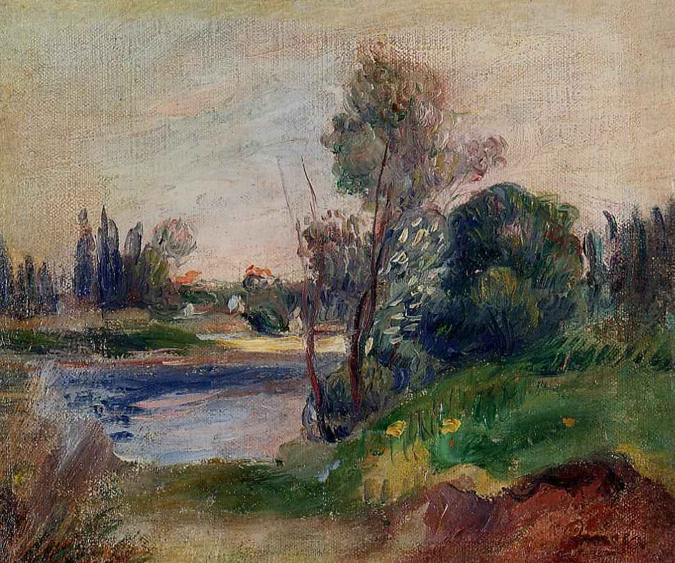 Banks of the River 1906 | Pierre Auguste Renoir | Oil Painting