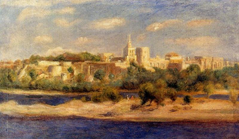 Bathers on the Banks of the Thone in Avignon 1910 | Pierre Auguste Renoir | Oil Painting